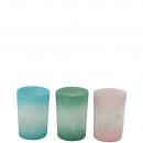 Votive-Teelicht-Glas Jiska 3 farbig sortiert, H